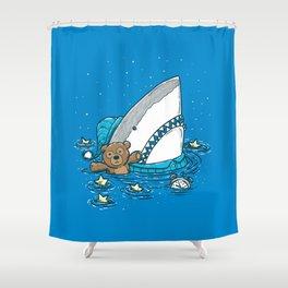 The Sleepy Shark Shower Curtain