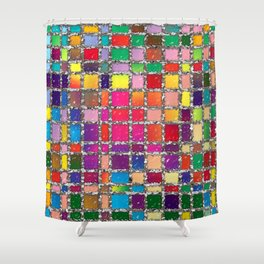 Stained Glass Window Multicolour Pattern Shower Curtain