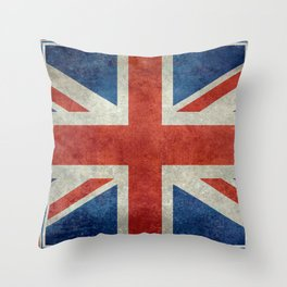 Square Union Jack retro style, made for the Pillows, Duvets and Shower curtains Throw Pillow