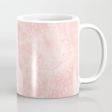 Ghostly alpaca and butterfly with mandala in Rose Quartz Mug
