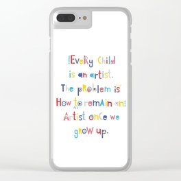 Pablo Picasso quotes Clear iPhone Case