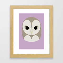 Pūce Framed Art Print