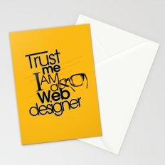 Trust Me I am Web Designer Stationery Cards