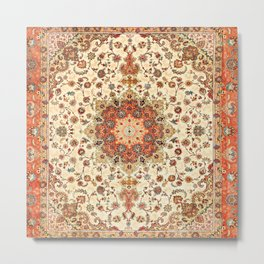 Bohemian Traditional Moroccan Style Artwork Metal Print