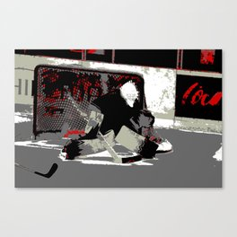Goal Stopper - Ice Hockey Goalie Canvas Print