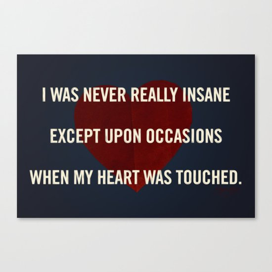 Insane Love Canvas Print