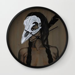 Feather and Bone Wall Clock