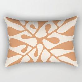 Matisse Inspired Abstract Cut Out orange Rectangular Pillow