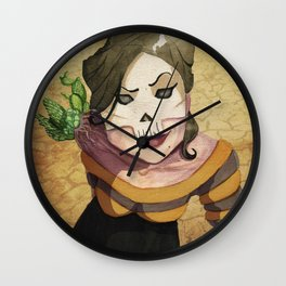 Lady Death's Looking at You Wall Clock