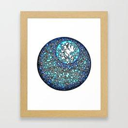 Blue Fire (2) Framed Art Print