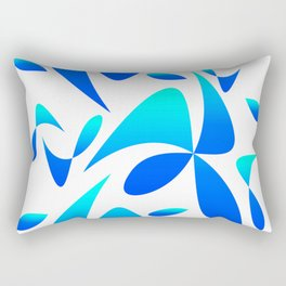 Pattern 161 blue turquoise Rectangular Pillow