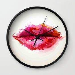 Beautiful womans lips formed Wall Clock