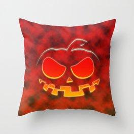Screaming Pumpkin Throw Pillow