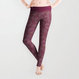 Purple Chard Kaleidoscope Leggings