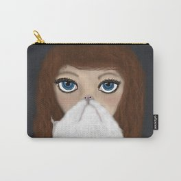Curly Haired Crazy Cat Lady Carry-All Pouch