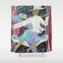 Swing with me Shower Curtain