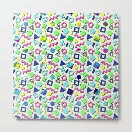 Totally 80s Pattern Metal Print