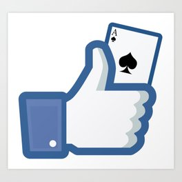 Ace of Spades - Nothing up my sleeve - Facebook like Art Print
