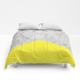 Concrete Arrow Yellow #193 Comforters