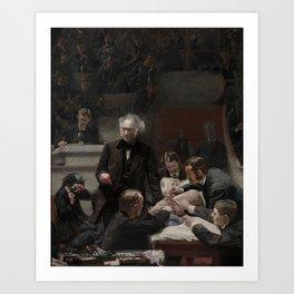 Thomas Eakins - Portrait of Dr Samuel D Gross (The Gross Clinic) Art Print