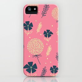 flower pattern spring leaves iPhone Case