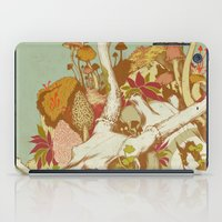 spring iPad Cases featuring skulls in spring by Teagan White