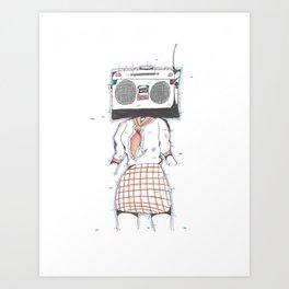 Radio Girl Art Print
