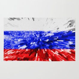 Extruded Flag of Russia Rug
