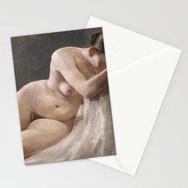 Nude Woman by Boleslaw Barbacki Stationery Cards
