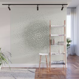 butterflies flying in a circle scatter in different directions. pastel Wall Mural
