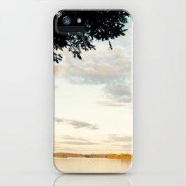 Crisp Lakeside Mornings iPhone Case