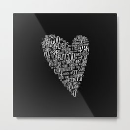 Heart Typography  Metal Print