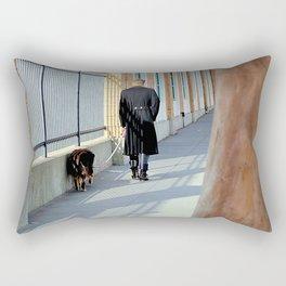 The Shadow Striper's Dog Walk Rectangular Pillow
