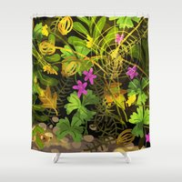 mouse Shower Curtains featuring mouse by Lara Paulussen