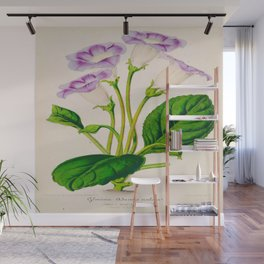 Gloxinia Perennis Vintage Botanical Floral Flower Plant Scientific Illustration Wall Mural