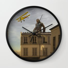 Kong in Paris Wall Clock