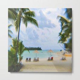 A Dreamy Day at a Tahitian Beach, Bora Bora Metal Print