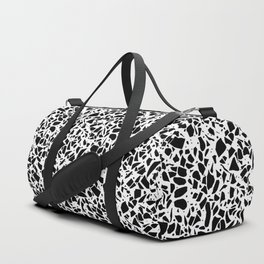 Terrazzo Spot 2 Black on White Duffle Bag