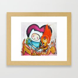 Finn and Flame Princess Framed Art Print