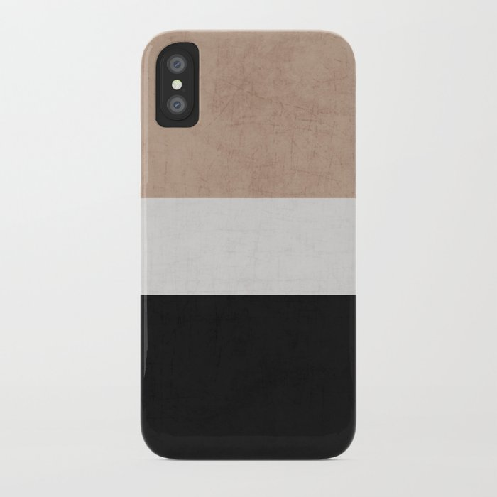 classic - natural, cream and black iPhone Case