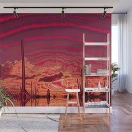 Metal Desert Ocean Wall Mural