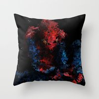 super hero Throw Pillows featuring Super hero by David