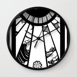 EL MAR LAS NUVES Y UN OJO Wall Clock