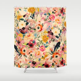 Picnic Blooms Shower Curtain