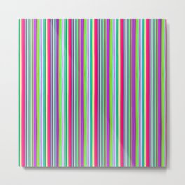 Colour line stripes 555 Metal Print