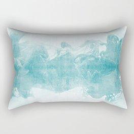 Ink Spot No. 1 | Turquoise Rectangular Pillow