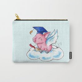 Winged Piggy Grad Carry-All Pouch
