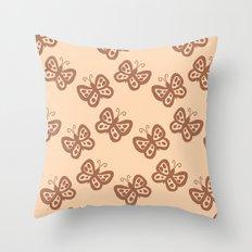Butterflies brown Throw Pillow