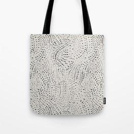 watercolor black dots Tote Bag