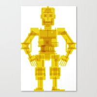 c3po Canvas Prints featuring C3PO by Vulgosclub